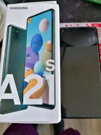 Like new Samsung a21s sim free bundle read description