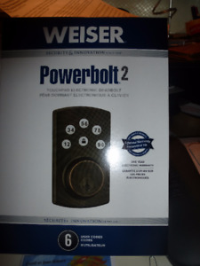 Touchpad Electronic Deadbolt - Venitien Bronze - New in box