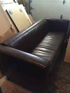 Modern LoveSeat -from Structube- dark brown color-