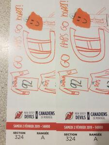 2 carton under cost aisle gris 324A samedi devils ou buffalo