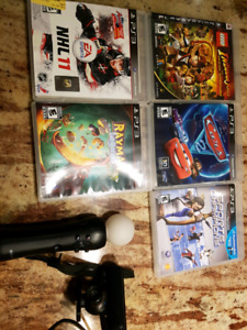 Games for Sony PS3 5 games and 1 sports game controller