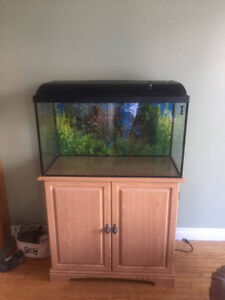 Fish tank with stand and other accessories $125 or best offer
