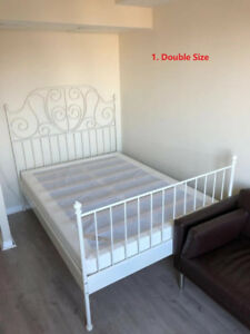 Sofa, Queen and Double Size Bed Frame, Glass table Sets for Sale