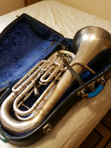 Vintage 4 valve euphonium with case