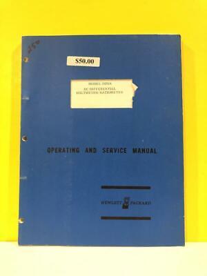 Hp 03420-90000 3420a Dc Differential Voltmeterratiometer Opsservice Manual