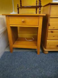 Large bedside pine table £15
