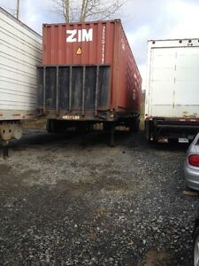 42 foot flat deck/ shipping container transport