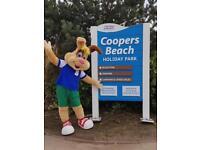static caravans SALE ON Coopers Beach, Mersea island ESSEX SEASIDE COAST