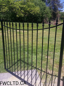 Wrought Iron Metal Solid Fence Panels, Railings, Gates London Ontario image 6