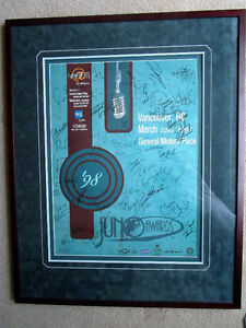Signed 1998 Juno Awards poster