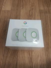 GOOGLE NEST Protect 2nd Gen Smoke & Carbon Monoxide Alarm (3 Pack) New