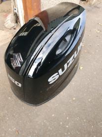 Suzuki 150hp outboard hood boat engine