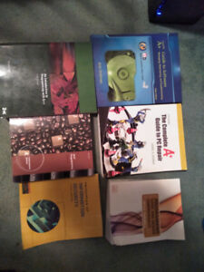 Various programming and A+ Hardware/software books
