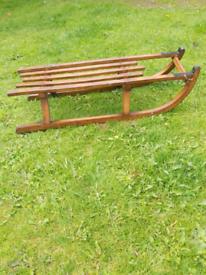 Antique wooden sledge