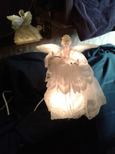 """NOW $50**VINTAGE MOVING WINGS Porcelain ANIMATED 14"""" Angel*AVAIL"""