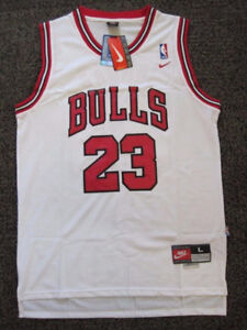 Michael Jordan Jersey Nike White with Red NWT Size Large
