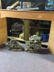 90 gallon tank with metal stand and wood canopy Cambridge Kitchener Area image 3