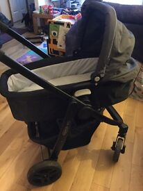 Pram buggy car seat and car seat and car seat base
