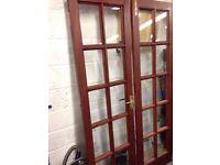 Mahogany Patio Doors