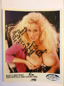 5 signed 8x10' original photos of Busty Brittany Miss Nude