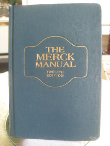 "'72 VINTAGE 12th EDITION MEDICAL TEXTBOOK ""THE MERCK MANUAL"""