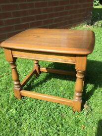 Ercol elm side table