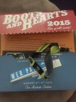 BOOTS & HEARTS FULL EVENT WRISTBAND WITH SHOWER PASS