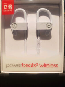 BNIB White Beats PowerBeats 3 Sealed
