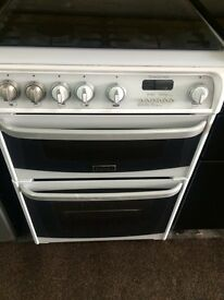 White cannon 60cm gas cooker grill & oven good condition with guarantee bargain