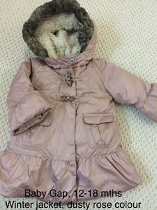 Gap warm jacket. Fall to winter. Size 12-18 months