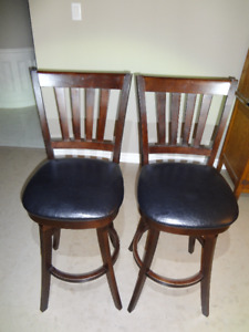 2 counter height swivel bar stools for sale