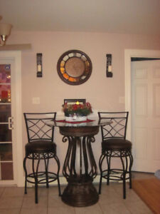 Beautiful Pub Style Table and Stools