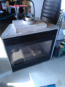 Used gas fireplace