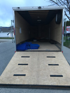 27' Enclosed Trailer/Car Hauler for Rent - Moving