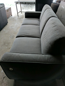 New 3 seat sofa bed with USB charging station