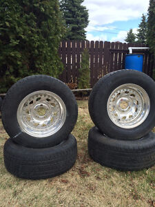 """15"""" Radial Tires and After Markets Mag Rims"""