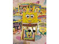 Spongebob bag and book set in excellent condition