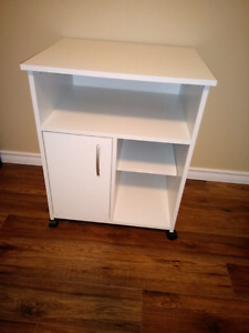 Never Used White Microwave Stand