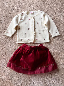 Gymboree sweater and skirt outfit, 6-12 months
