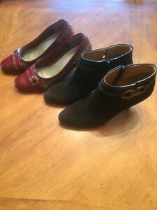 Fabulous suede shoes.