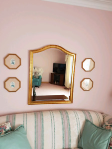 Beautiful Gold Framed Bevelled Mirror