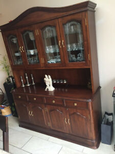 Solid hardwood Hutch, looks beautiful