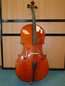 4/4 CELLO WITH SOFT CASE AND BOW