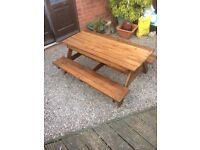 Child's picnic/sandpit table