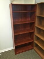 5-High Bookcase - Orange/Brown