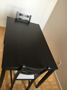 dining table and 2 chairs set for sale