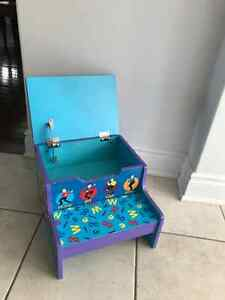 Attention Wiggles Fans!  Wiggles Step Stool with Storage Cambridge Kitchener Area image 2