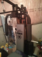 YORK 4180 WEIGHT LIFTING MACHINE 120 LBS OF WEIGHT MOVING SALE