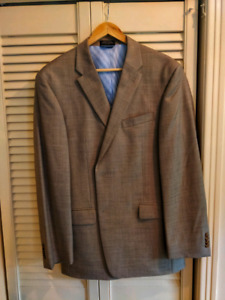 Beige 42R Slim Fit Suit