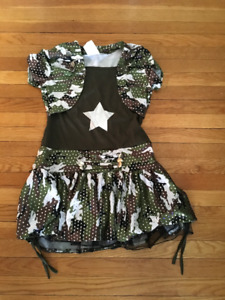 Girls Army brat dress